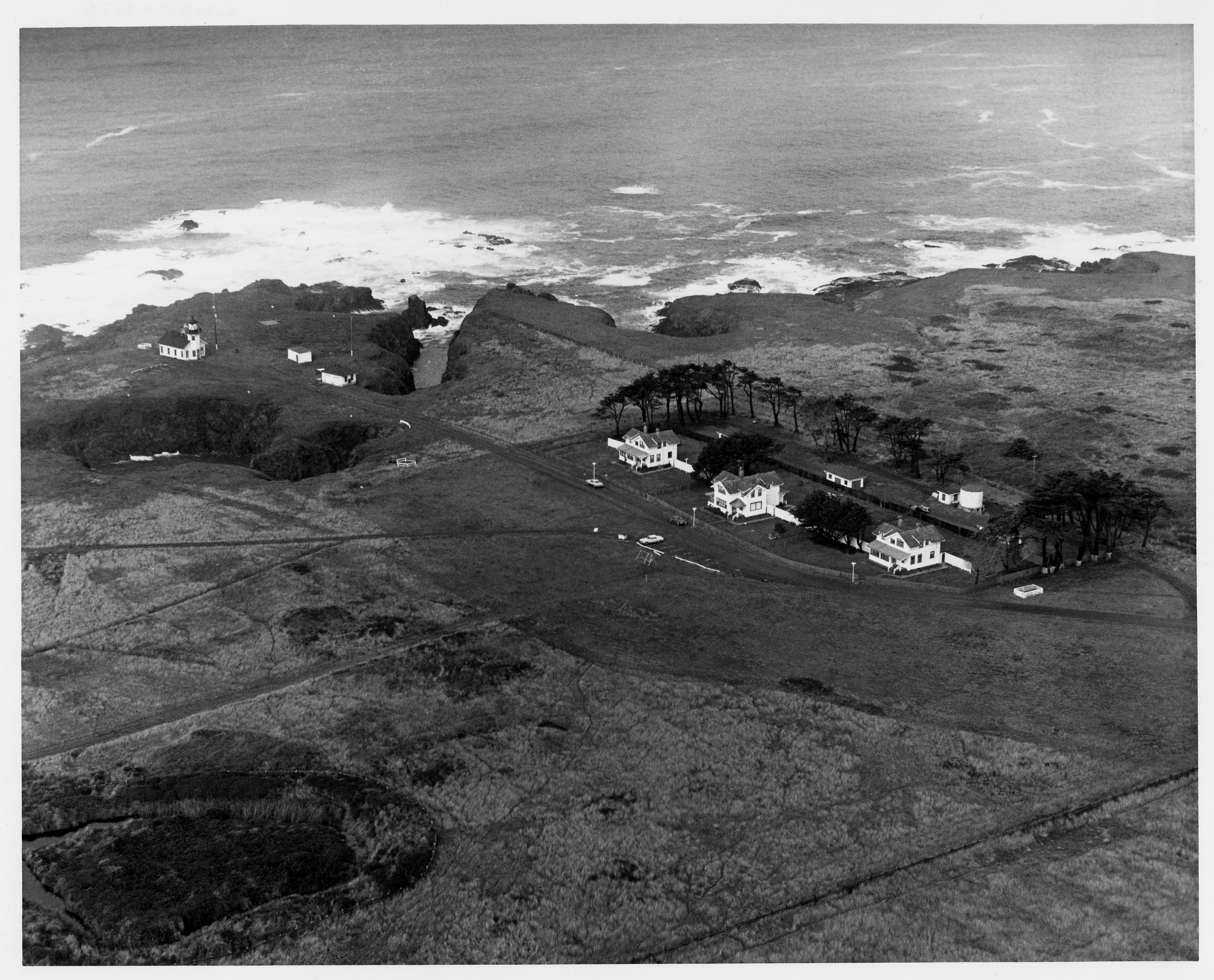 Point Cabrillo from the air in 1979