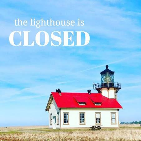 Lighthouse Open for Window Shopping and Story-Telling!